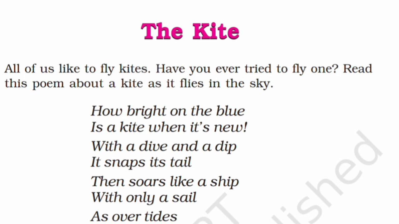 NCERT Class 6 English - Honeysuckle - Poem - The Kite | Full Hindi  Explanation |