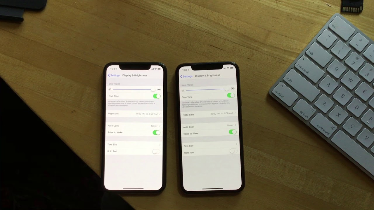 iPhone X vs  iPhone XS Screen brightness issue