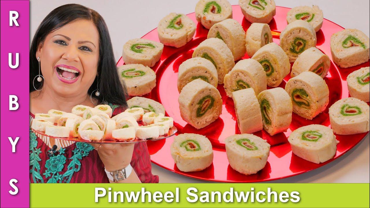 Umy ke Summer Pinwheel Sandwiches Recipe in Urdu Hindi - RKK