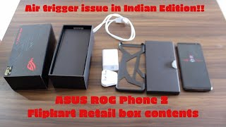 Asus ROG phone 2 Indian edition unboxing and hands-on | Flipkart | Issues with Air-Trigger