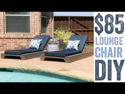 DIY Outdoor Lounge Chair - DIY Outdoor Lounge Chair - YouTube