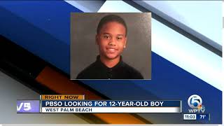 PBSO searching for missing 12-year-old boy near West Palm Beach