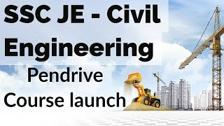 SSC JE - Civil Engineering 2018 Pendrive Course launch