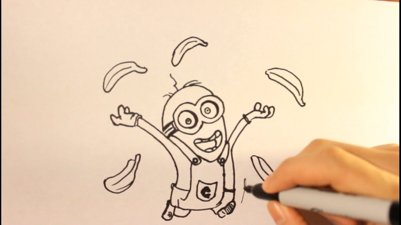 Show me how to draw a minion - How To Draw A Minion Easy Step By Step Drawing Tutorial Banana Youtube
