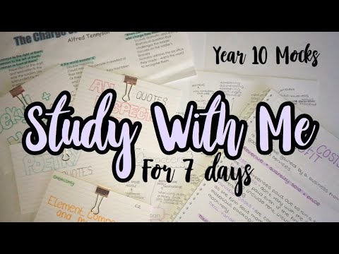 Realistic Study With Me for a Week – Year 10 Mocks