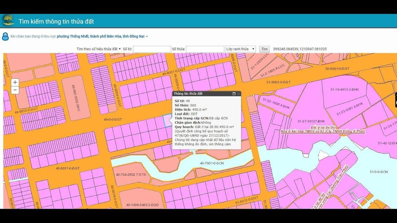 Cách tra cứu thông tin Quy Hoạch nhà đất Đồng Nai – Biên Hoà bằng máy tính và smartphone 2018