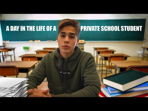 A Day in the Life of a Private School Student...