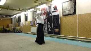 menuchi ushiro tsuki - jo [TUTORIAL] Aikido basic weapon technique /men no bu