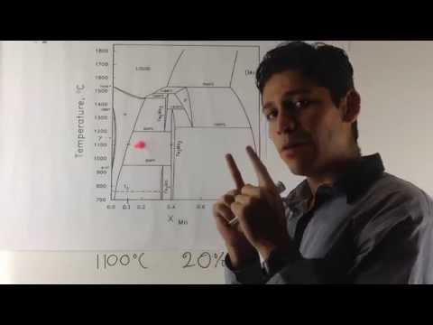 Regla de la Palanca - Diagrama de Fases Hierro-Molibdeno