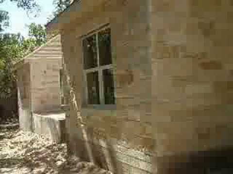 House Construction 20131006 Outside stone and Inside wall paint ...