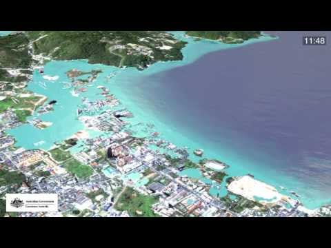 Simulation of 2004 Boxing Day tsunami - Patong beach