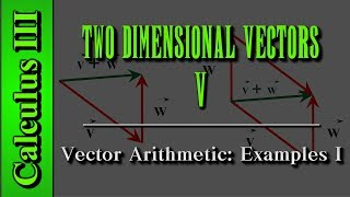 Calculus III: Two Dimensional Vectors (Level 5 of 13)   Vector Arithmetic Examples I