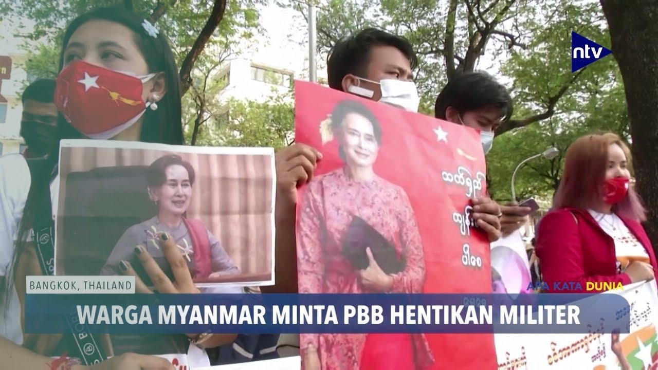 Warga Myanmar Desak PBB Hentikan Militer