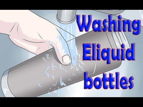 Washing Eliquid Bottles | DIY ejuice mixing