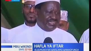 'Ndoa' yangu na Rais Kenyatta siyo ya kutaka nusu mkate, Raila asisitiza