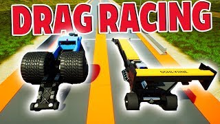 EXTREME LEGO DRAG CAR RACING AND CRASHING! - Brick Rigs Creations