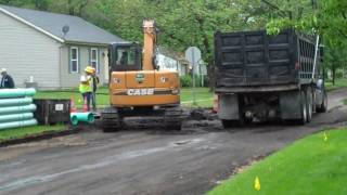When road construction comes to your front yard....mp4