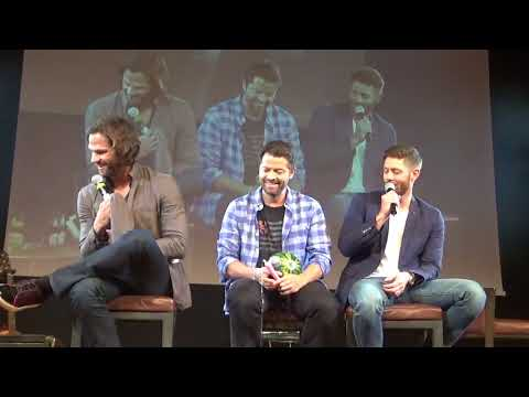 JIB9 2018 Jensen Ackles and Misha Collins Sunday Panel Plus Jared Padalecki