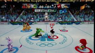 Mario and Sonic at the Winter Olympic games: Ice Hockey part 1
