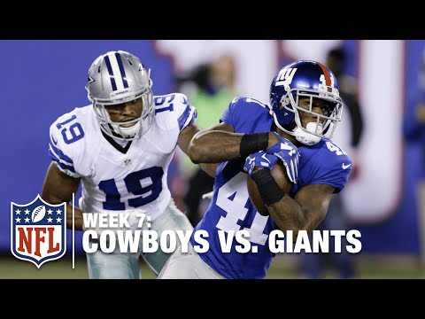 Rodgers-Cromartie Gets Pick Six, Ref Gets Knocked Down! | Cowboys vs. Giants | NFL