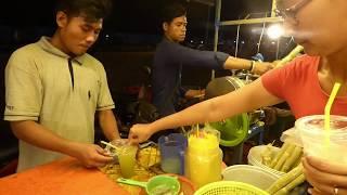 Siem Reap Angkor Wat Sugar Cane Juice Mass Production