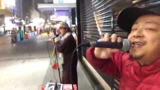 Reggae Busking hong kong - 阿鼠 - Jah Jah Mercy- 香港中環街頭雷鬼 Mousefx 流動聲音系統