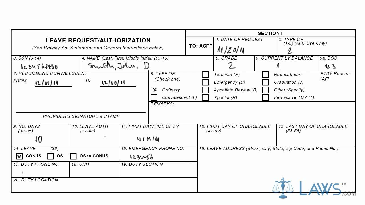 af leave request form  Learn How to Fill the AF FORM 988 Leave Request/Authorization - YouTube