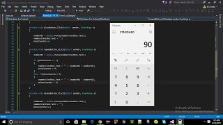 Bangla te simple Gui in C# : Calculator-Part01. Using Visual Studio 2015.