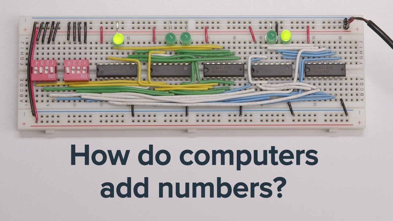 Learn How Computers Add Numbers And Build A 4 Bit Adder Circuit Learning About Youtube
