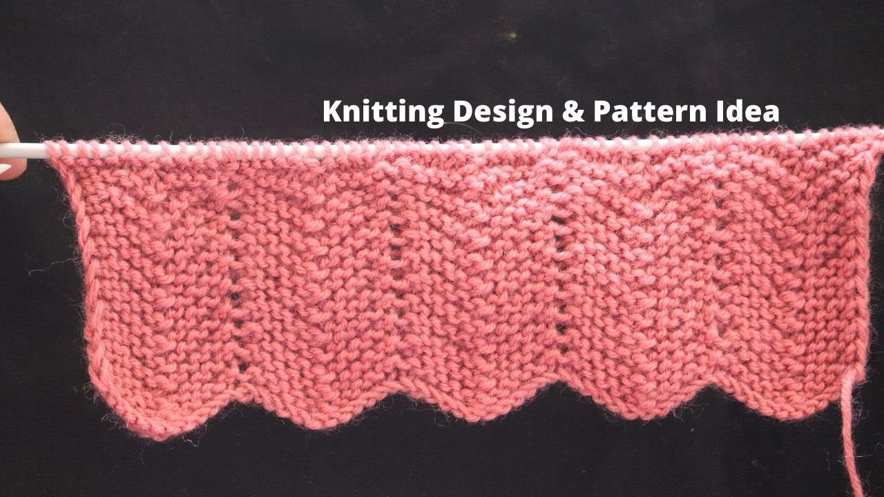 Easy 1 row knitting pattern for sweater border / scalloped border pattern for cardigan #Knitting#.