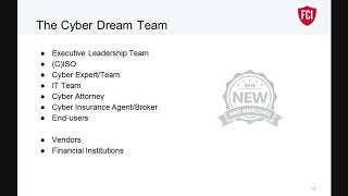 FPA Webinar: How to Build a Cyber Dream Team by Cybersecurity Expert Brian Edelman, FCI