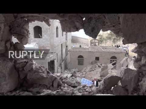 Yemen: Sanaa district devastated in Saudi-led coalition air strike