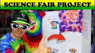 Tie Dye Science Fair Project and Display Board