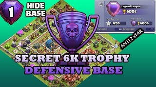 TH 12 MOST SECRET 6K  DEFENSIVE BASE WITH REPLY / ANTI 0 STAR/ ANTI 1 STAR / ANTI 2STAR CLASHOFCLANS