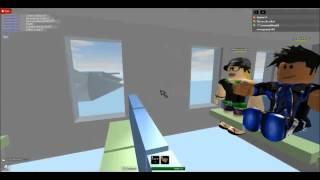 Roblox FD5 Ending Plane Crash Scène