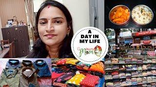 Indian Mom Day in My Life Vlog || Shopping Day || Kobbari Annam Recipe