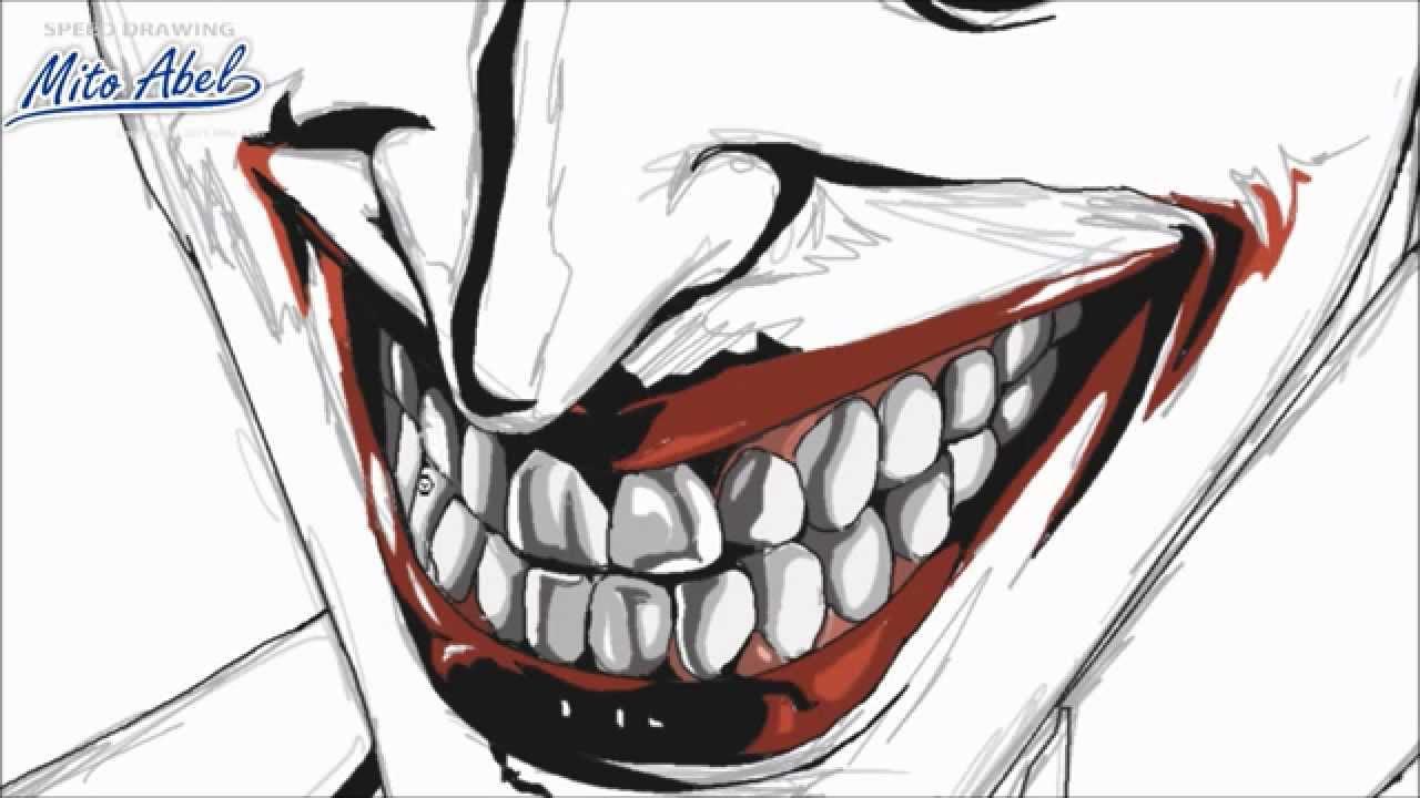 coloreado de la sonrisa del joker paso a paso  YouTube