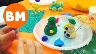 ВМ: Лепим ёлочные игрушки | Making Christmas toys