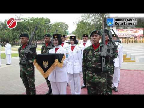 Upacara Penurunan Bendera Merah Putih Dalam Rangka HUT RI Ke 71 Di Kota Langsa