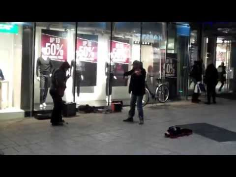 Hamburg, Germany night time street music