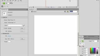 Переключение интерфейса Adobe Flash CS4 (3/46)
