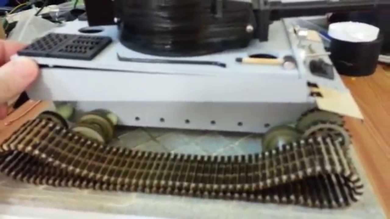Сделать модель танка своими руками на радиоуправлении