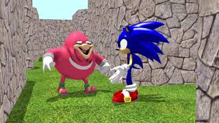 Pacman vs Sonic Uganda Knuckles 3D