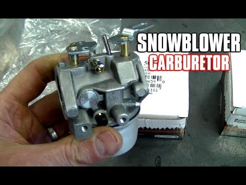 HOW-TO Install A Snowblower Carburetor