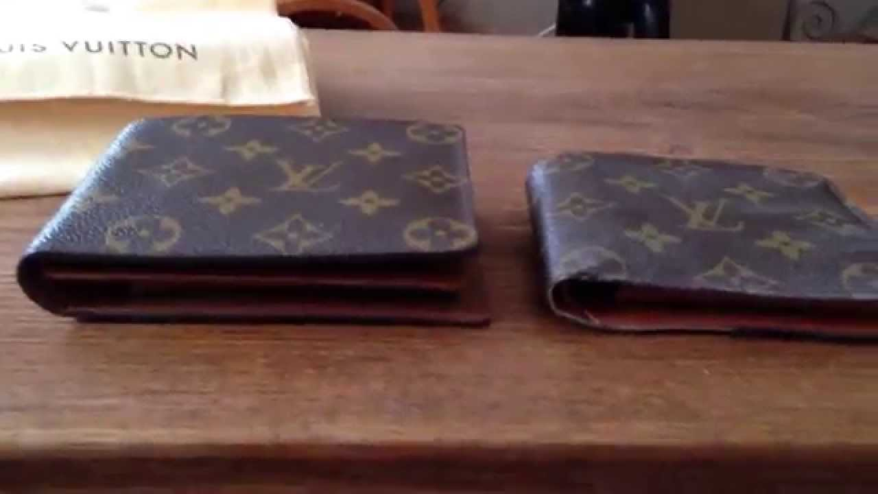 da1929261b18 Louis Vuitton Real vs Fake men s wallet - YouTube