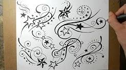 Shooting Star Tattoo Designs - Sketching Ideas