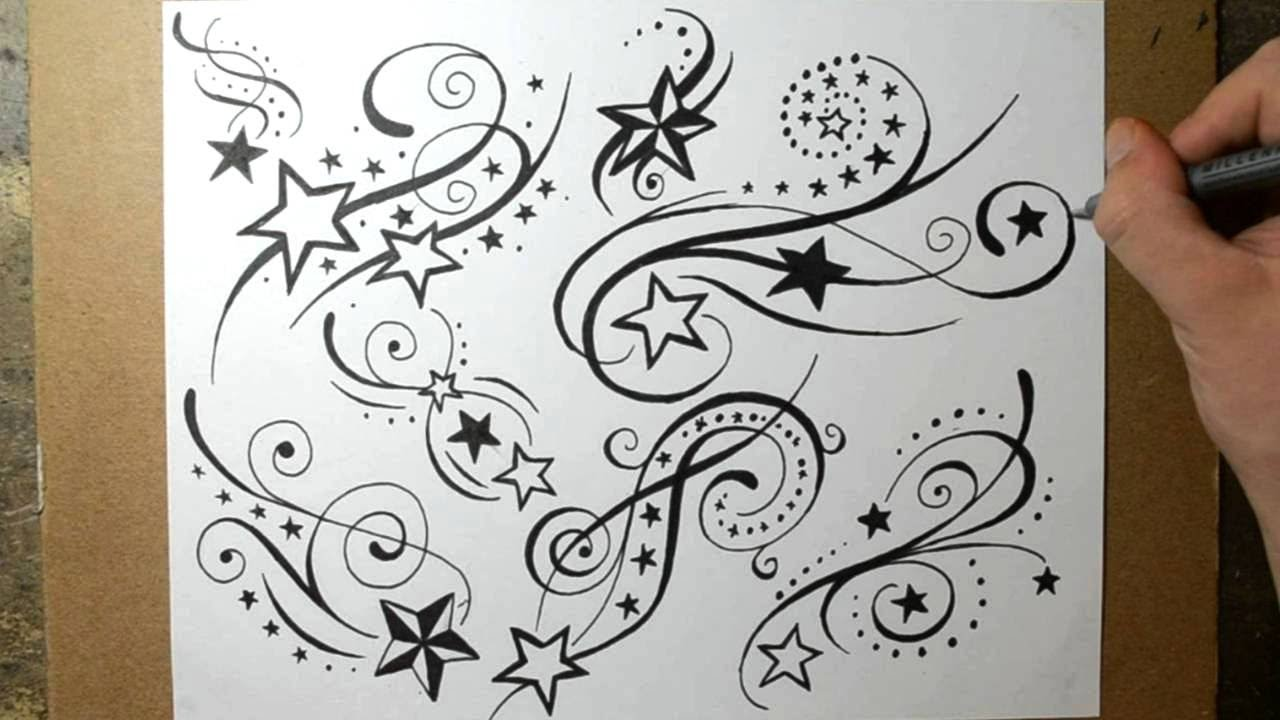 Shooting Star Tattoo Designs Sketching Ideas Youtube