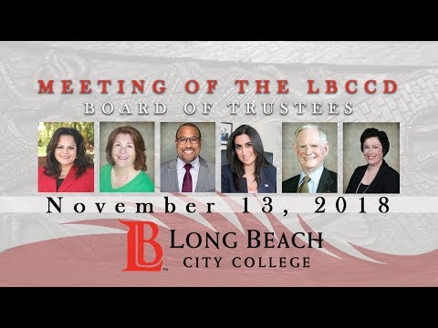 LBCCD Board of Trustees Meeting - November 13, 2018