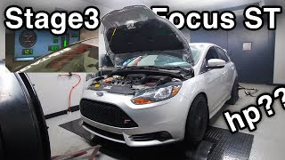 Stage3 Ford Focus ST Dyno Test [Dynamometer // How Much Horsepower?]