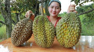Download Yummy Durian Cream Dessert Cooking - Durian Dessert - Cooking With Sros Mp3 and Videos